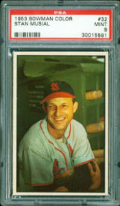 1953 Bowman Stan Musial graded by PSA