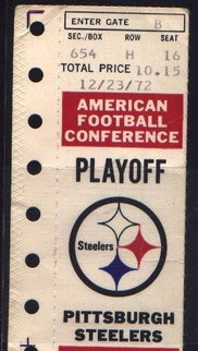 Immaculate Reception ticket stub