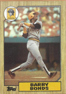 1987 Topps Barry Bonds rookie card