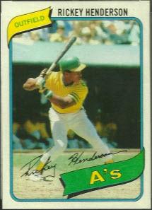Rickey Henderson rookie card 1980