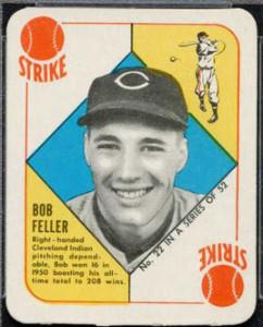 Bob Feller 1951 Topps Red Back
