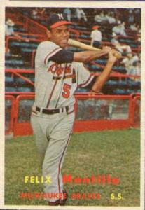 Felix Mantilla 1957 Topps