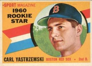 Carl Yastrzemski rookie card