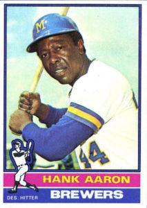 Hank Aaron 1976 Topps