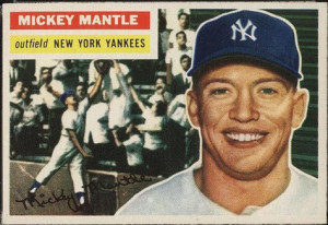 Mickey Mantle 1956 Topps