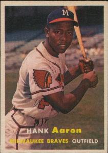 Hank Aaron 1957 Topps