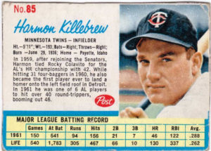 Harmon Killebrew 1962 Post Cereal