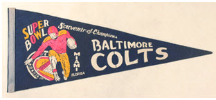 Baltimore Colts Super Bowl pennant