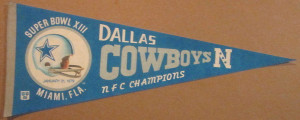 Super Bowl XIII pennant Cowboys