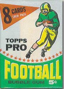 Topps 1964 football wrapper