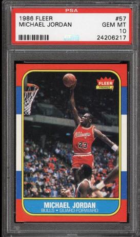 PSA 10 Michael Jordan rookie card