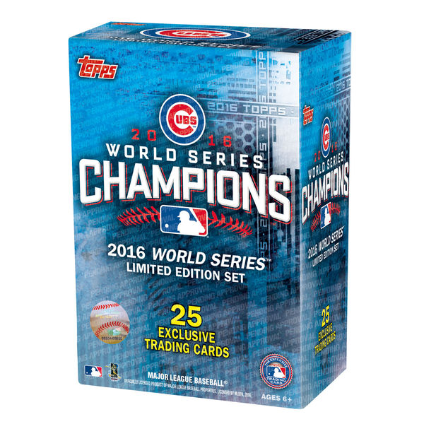 2016 Topps Chicago Cubs World Series commemorative card set