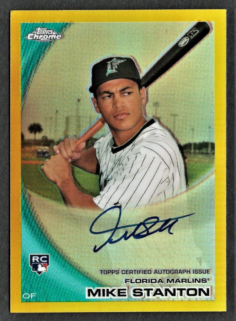 Giancarlo Mike Stanton Topps Gold Refractor Chrome rookie card